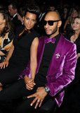 Alicia Keys showed love with her husband Swizz Beatz.