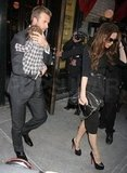 David Beckham and Victoria Beckham ate at Balthazar in NYC with Harper Beckham.