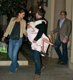 Katie Holmes and Tom Cruise took Suri to dinner.