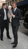 David Beckham and Harper Beckham went to the Victoria Beckham presentation.