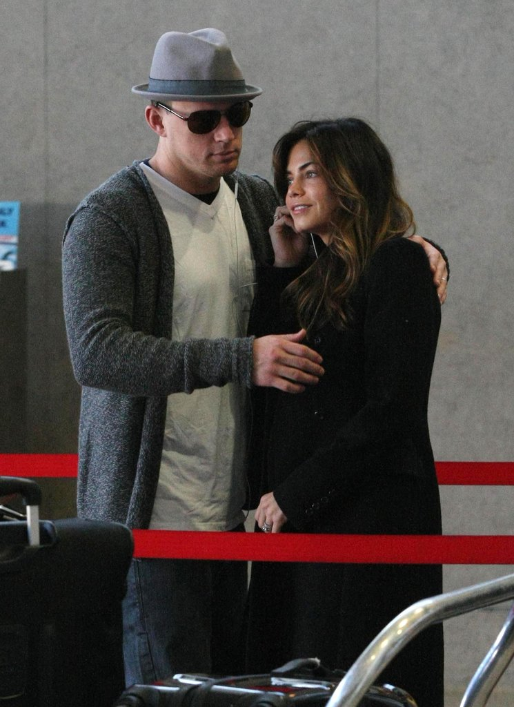 Channing Tatum and Jenna Dewan at LAX.