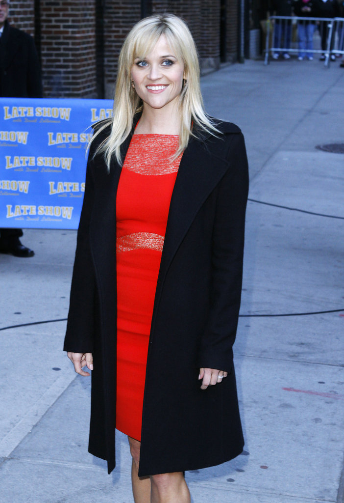 Reese Witherspoon Wears Red Ahead of the Valentine's Release of Her Romantic Comedy