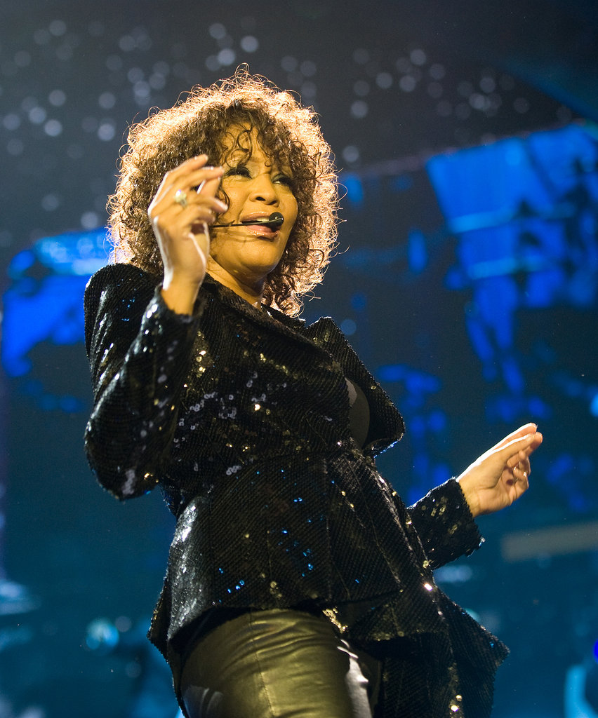 Whitney rocked the crowd during a 2010 London concert.