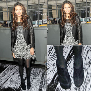 Nina Dobrev at DKNY Fashion Show 2012