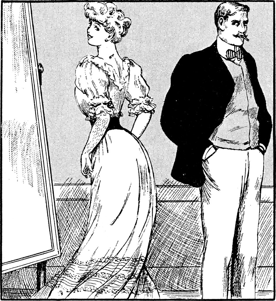 Men who were against corsets were still far from being feminists. In fact, they often used the fact that women wore the waist-cinching undergarments as reasoning that females were irrational. And they were more concerned with corseted women not being able to have children than the women hurting their bodies.