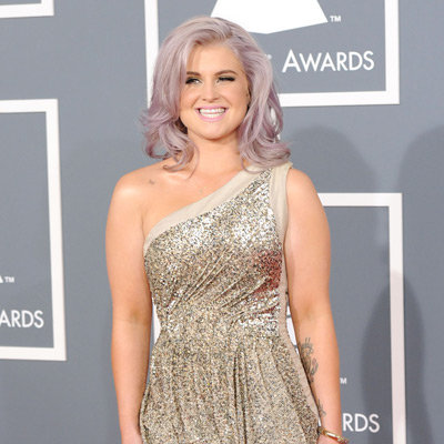 Kelly Osbourne in One Shouldered Sequinned Dress Pictures at 2012 Grammy Awards