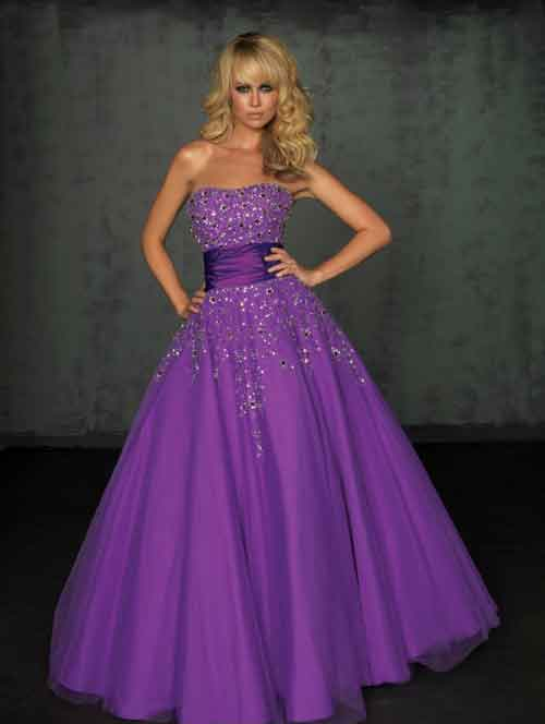 Purple Wedding Dresses For  : Cool purple wedding dresses strapless with