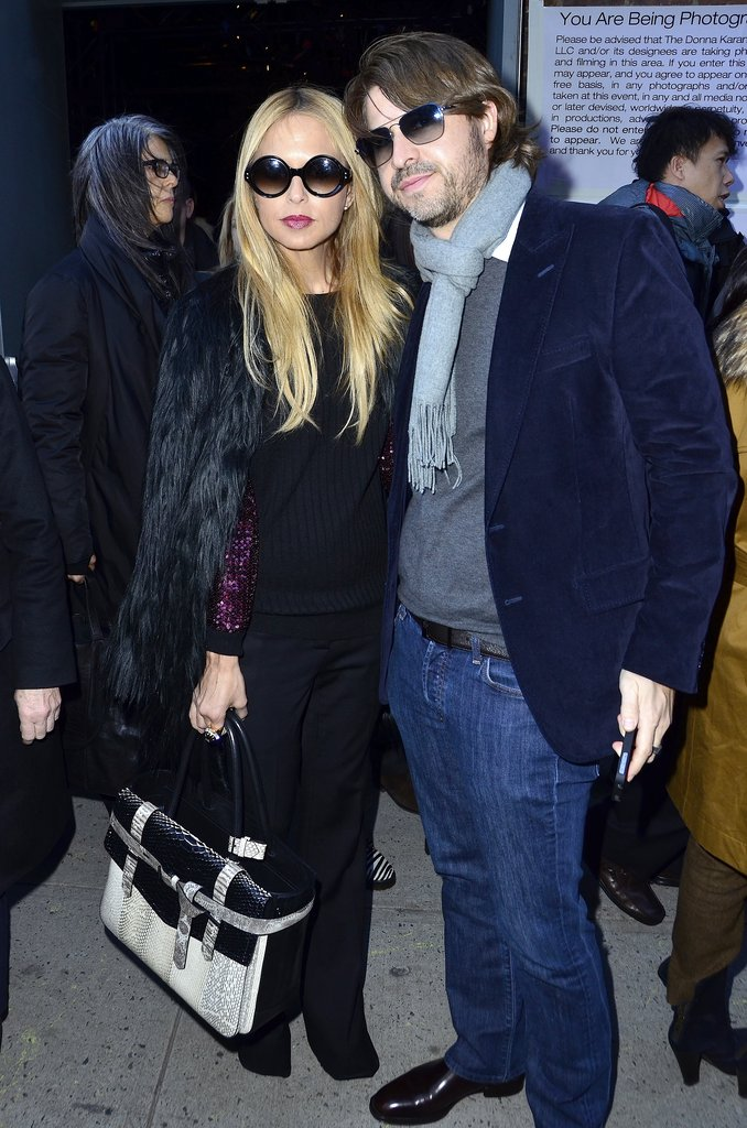 Rachel Zoe and Rodger Berman hit up the Derek Lam show.