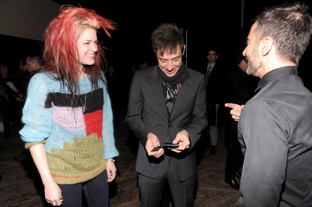 Alison Mosshart and Jamie Hince said hi to Marc Jacobs.