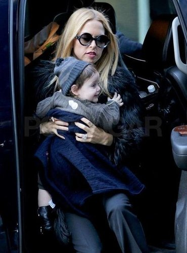 Rachel Zoe and Skyler Berman hopped out of a car.