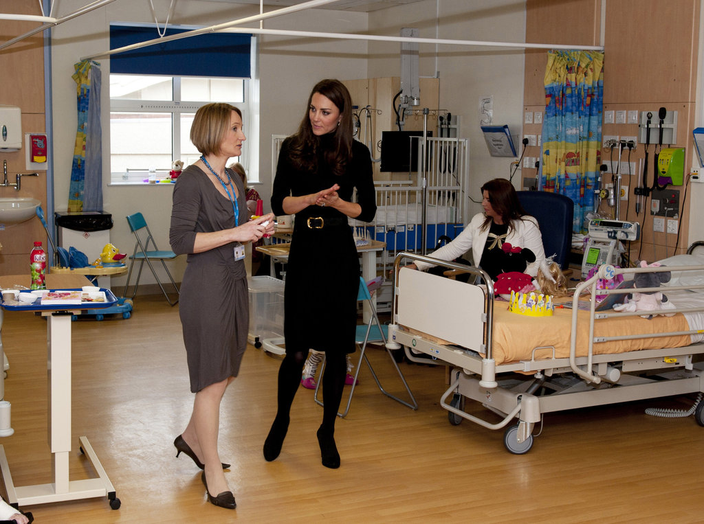 Kate Middleton toured a hospital.