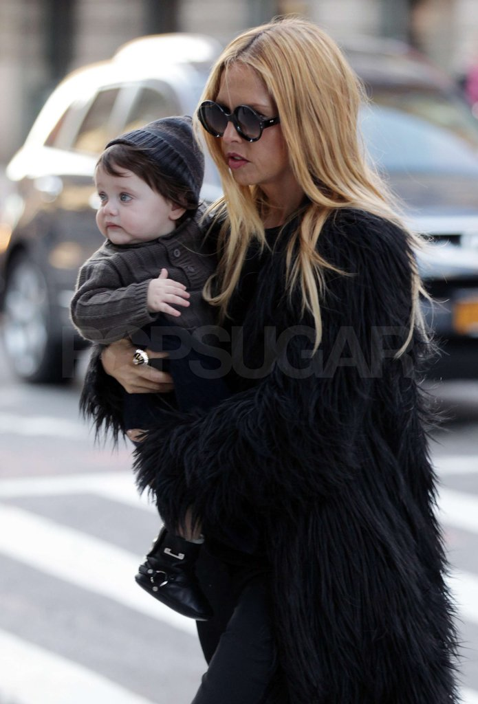 Rachel Zoe cuddled Skyler Berman close.