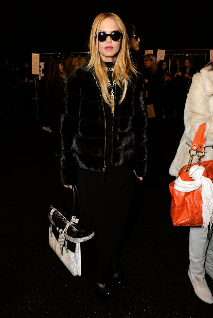 Rachel Zoe kept her shades on inside during Derek Lam's NYFW show.