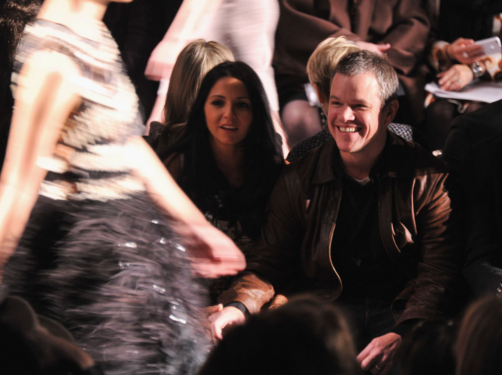 Matt looked excited to see the chic designs.
