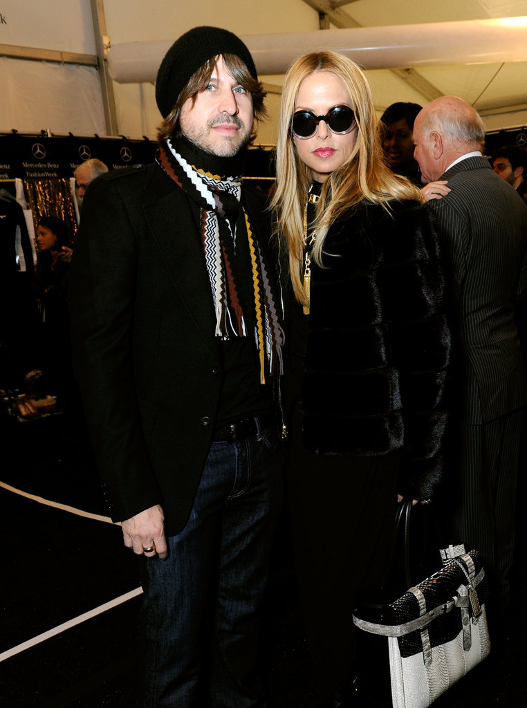 Rodger Berman posed alongside Rachel Zoe backstage at NYFW.
