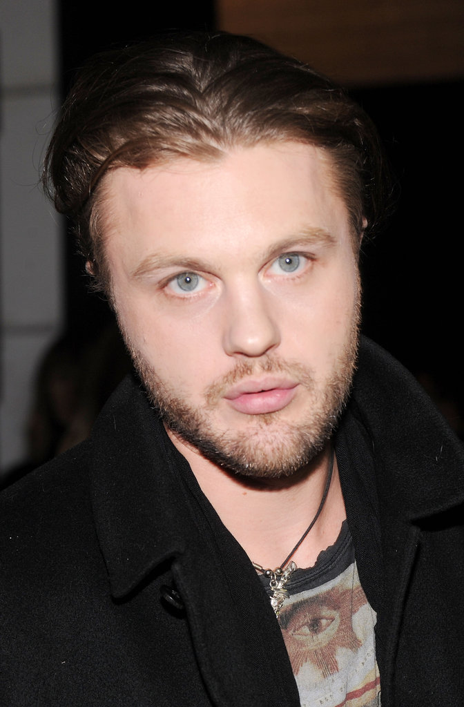 Michael Pitt went to NYFW.