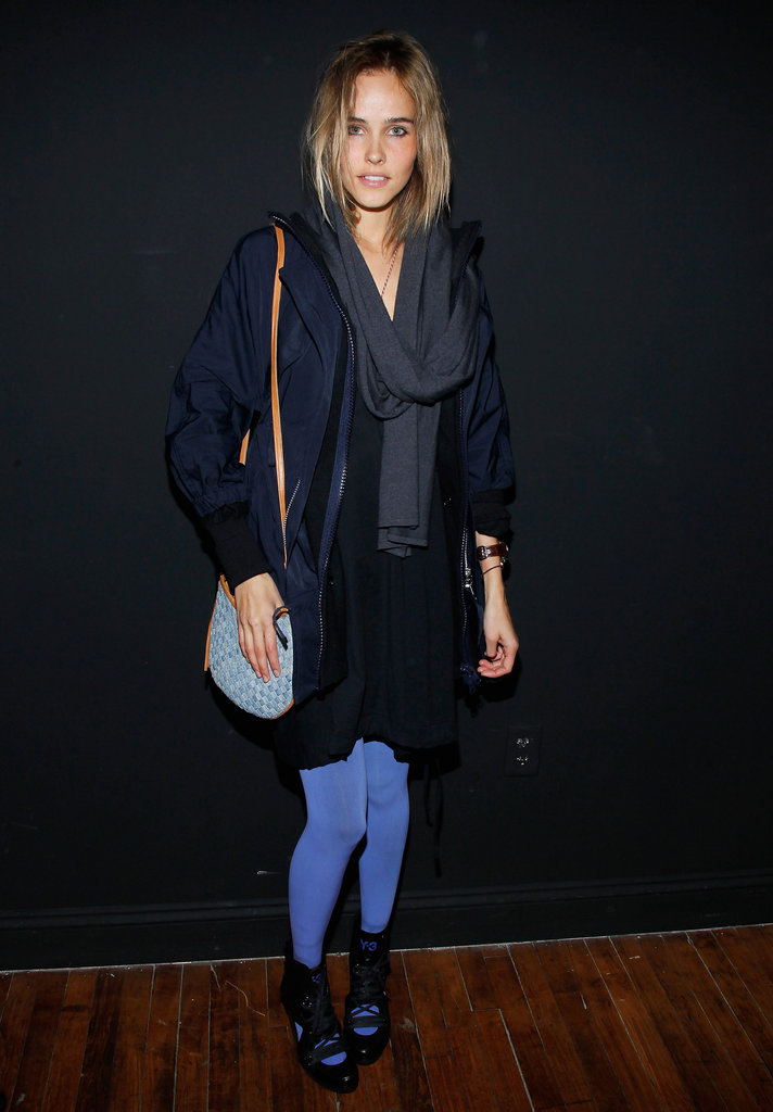 Isabel Lucas kept it cool at Y-3.