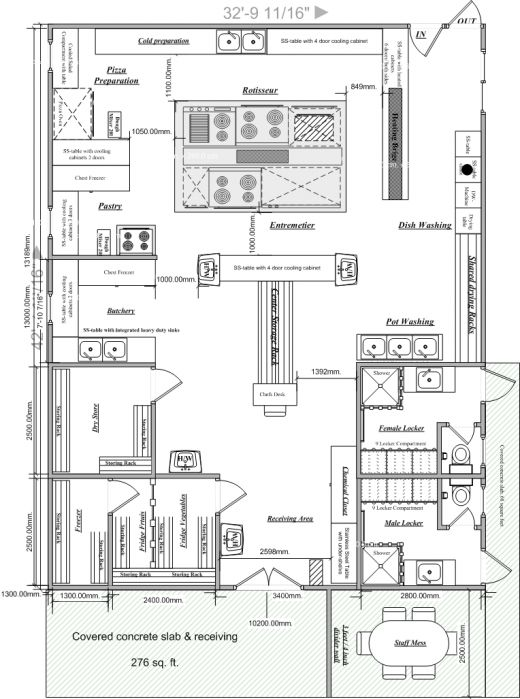 Commercial Restaurant Kitchen Layout