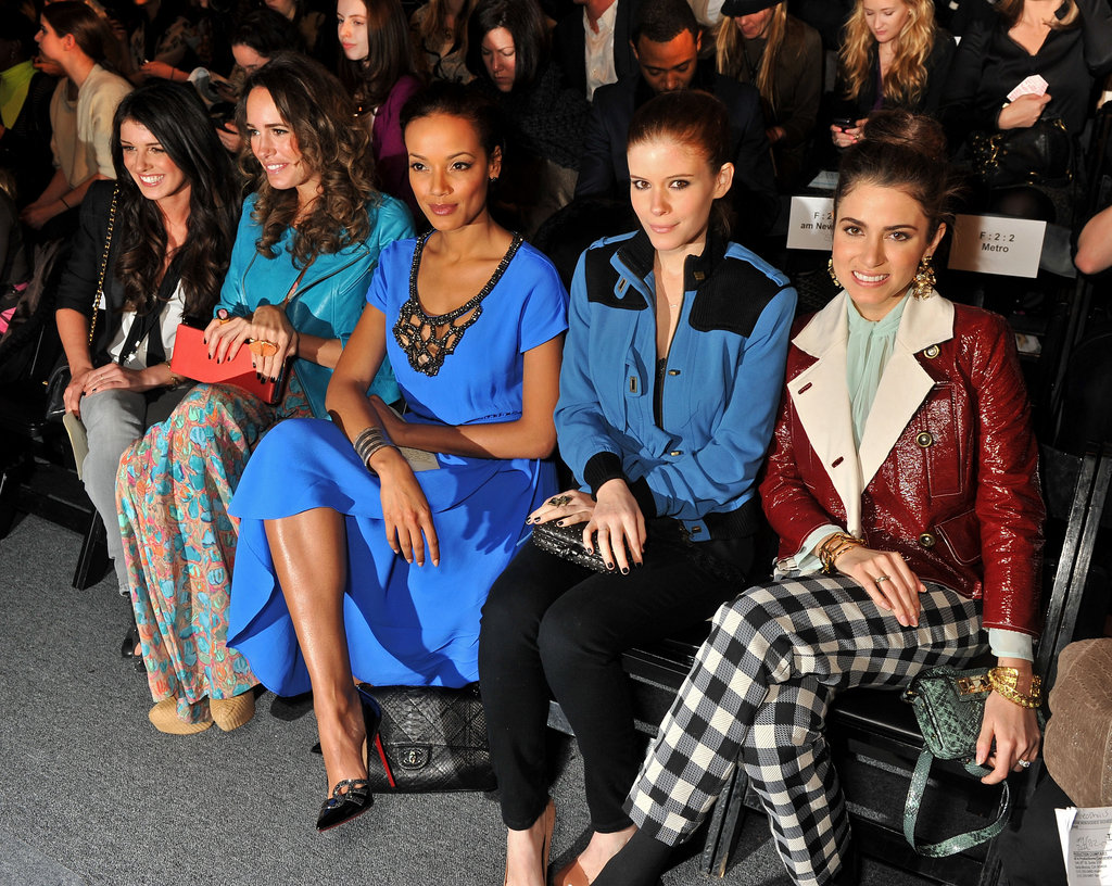 Shenae Grimes, Louise Roe, Selita Ebanks, Kate Mara and Nikki Reed at Tracy Reese