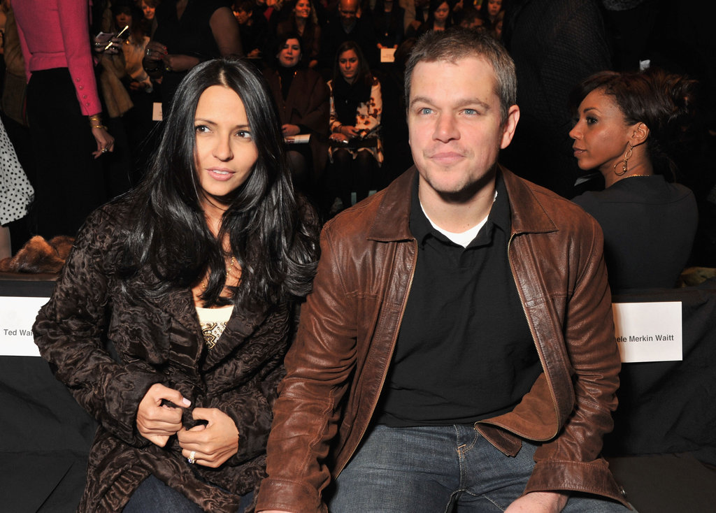 Luciana and Matt Damon at Naeem Khan