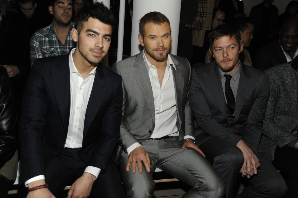 Joe Jonas, Kellen Lutz and Norman Reedus at Simon Spurr