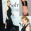 Sienna Miller Long Black Halter Dress
