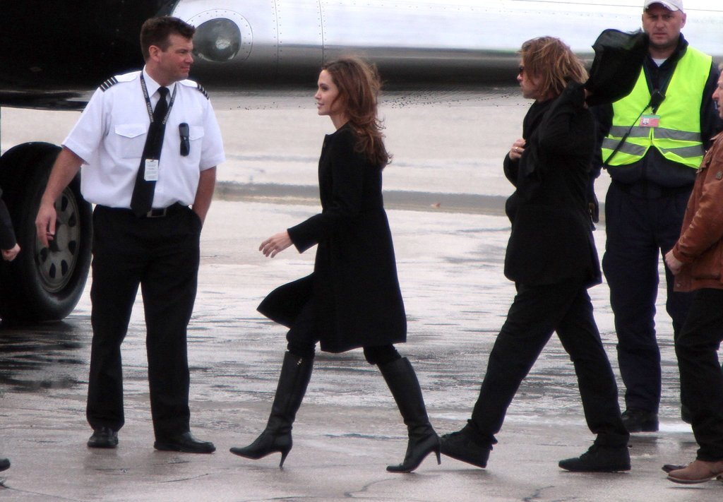 Angelina Jolie and Brad Pitt were on the go.