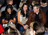 Matt and Luciana sat with other stars in the front row of the Naeem Khan show.