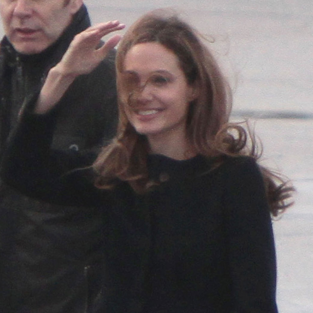 Angelina Jolie waved goodbye.