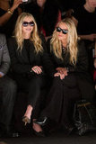 Mary-Kate and Ashley Olsen Pack a Blond Punch in the Front Row at FW