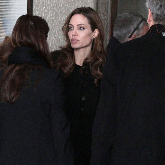 Angelina Jolie Steps Out in Bosnia Following a Glamorous Valentine's With Brad