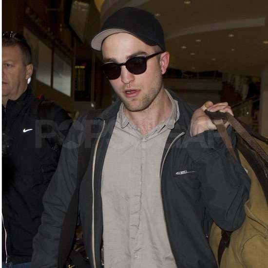 Robert Pattinson made his way through LAX today.