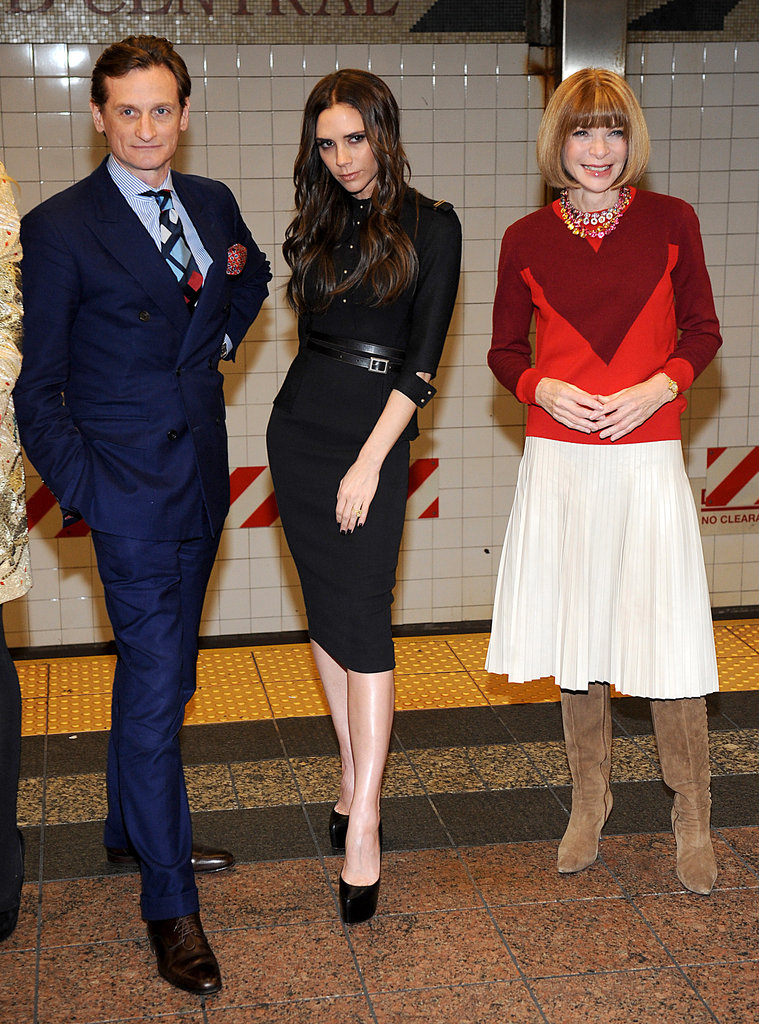"Victoria Beckham Poses in the Subway During a Break From Taking ""NYFW by the Balls"""