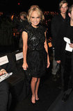 Kristin Chenoweth opted for a pretty cocktail frock in Naeem Khan's front row.