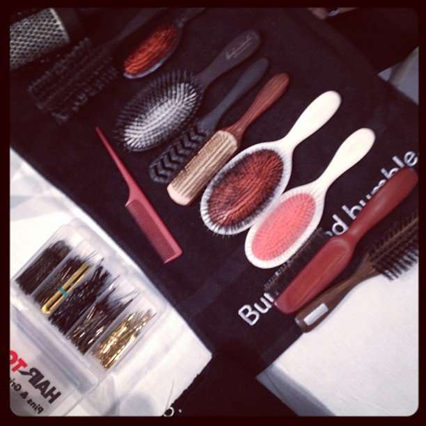Pristine, clean brushes at BCBG.