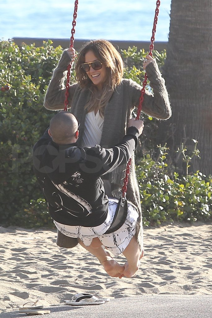 Jennifer Lopez and Casper Smart played together on Valentine's Day.