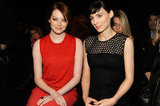 Emma Stone and Rooney Mara Meet Up For a Fashion Week Finale
