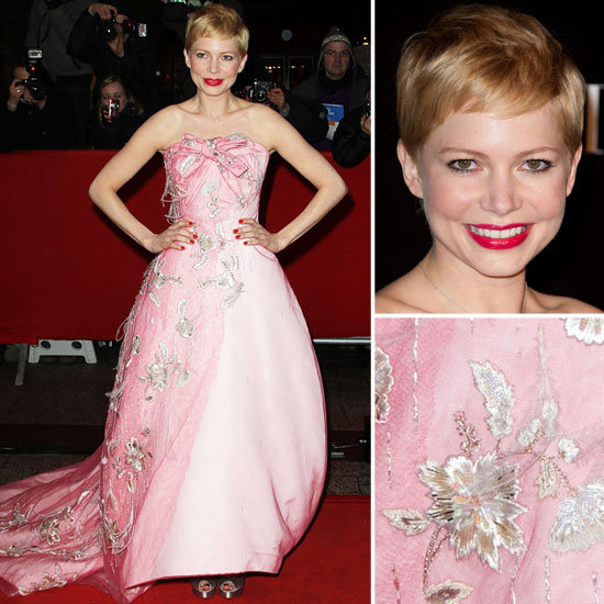Michelle Williams in Christian Dior at Movie Premiere