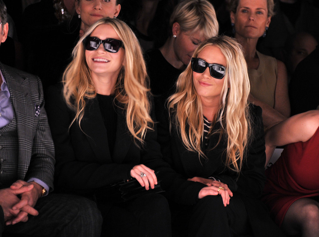 Ashley and Mary-Kate Olsen at J. Mendel