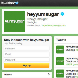 YumSugar Twitter Handle