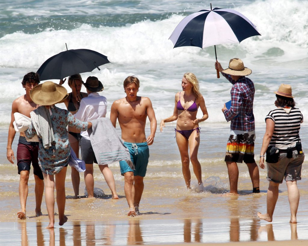Naomi Watts and Robin Wright shot The Grandmothers with Xavier Samuel and James Frecheville in Seal Beach, Australia.