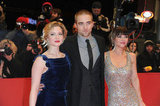 Rob posed with his Bel Ami costars Holliday and Christina.