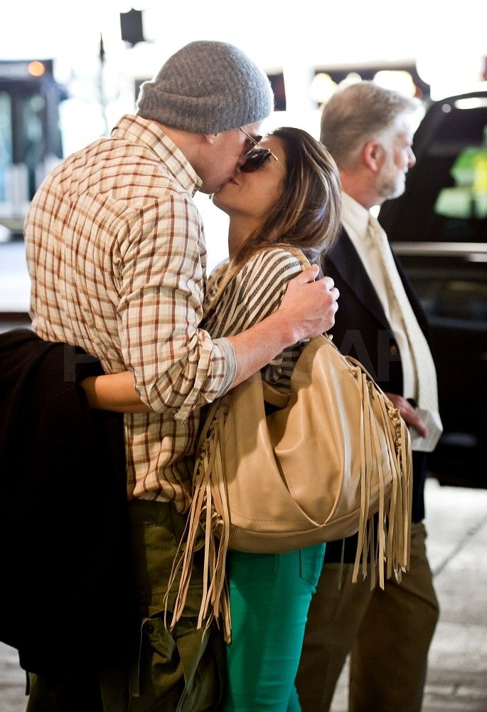 Channing and Jenna kissed outside LAX.