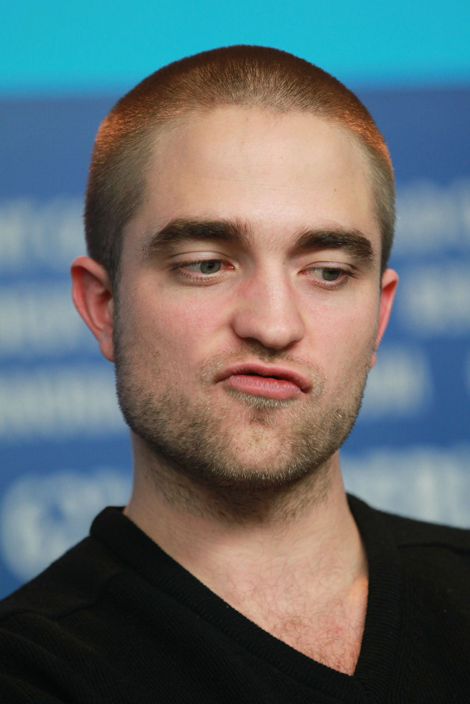 Robert Pattinson made a funny face in Berlin.