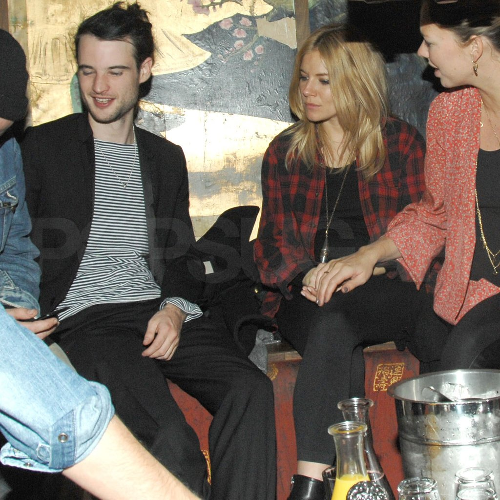 Sienna Miller and her fiancé Tom Sturridge hung out in NYC.