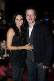 Matt and Luciana Damon attended the Guns N' Roses show.