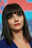 Christina Ricci listened at a Bel Ami press conference.