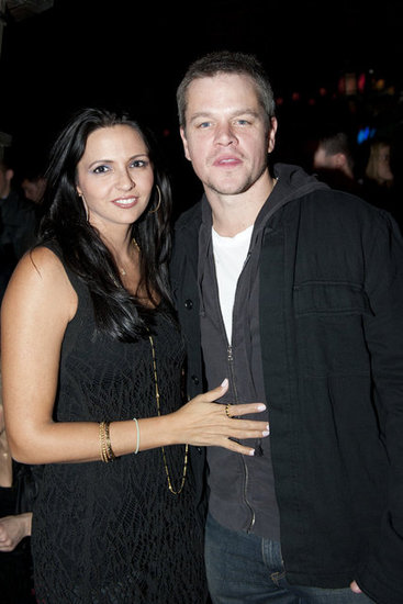 Matt Damon and Luciana Damon posed for a picture at the Hiro Ballroom.