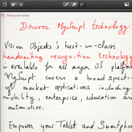 MyScript Notes Handwriting App on the iPad