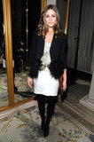 Olivia Palermo posed for a photo inside The Plaza Hotel.